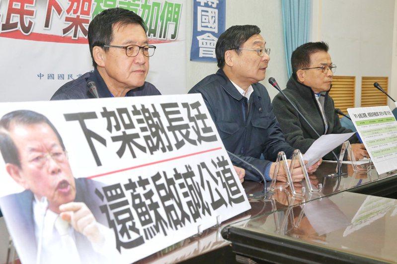 國民黨立委費鴻泰(左起)、曾銘宗、賴士葆問政風格犀利,有「曾泰葆」的封號。 本報資料照