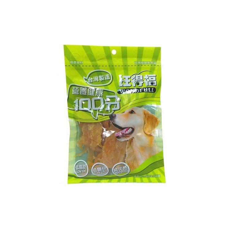 旺得福-100%手工烘焙雞肉乾5包,momo購物網活動特價511元。圖/momo...