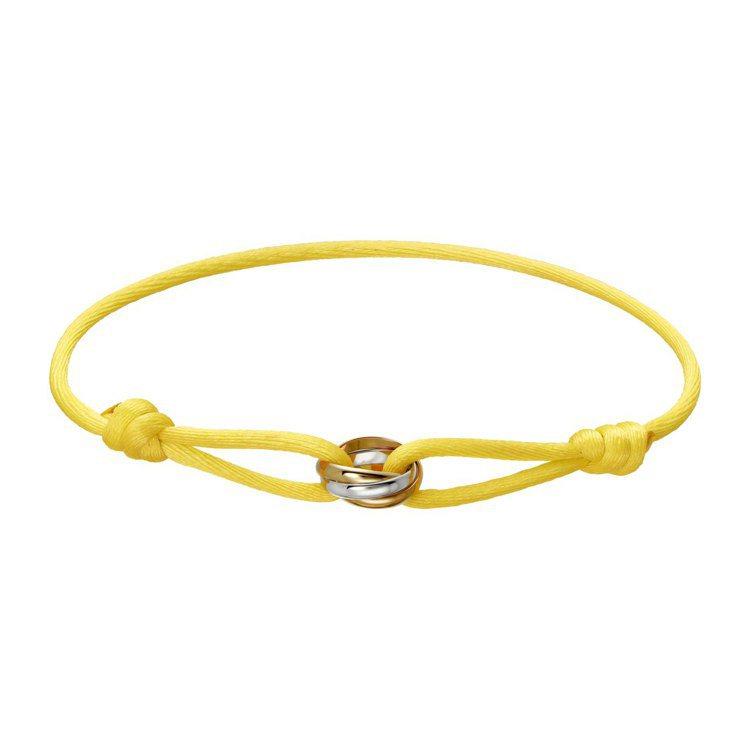 卡地亞Trinity彩色絲繩手環,17,700元。圖/卡地亞提供