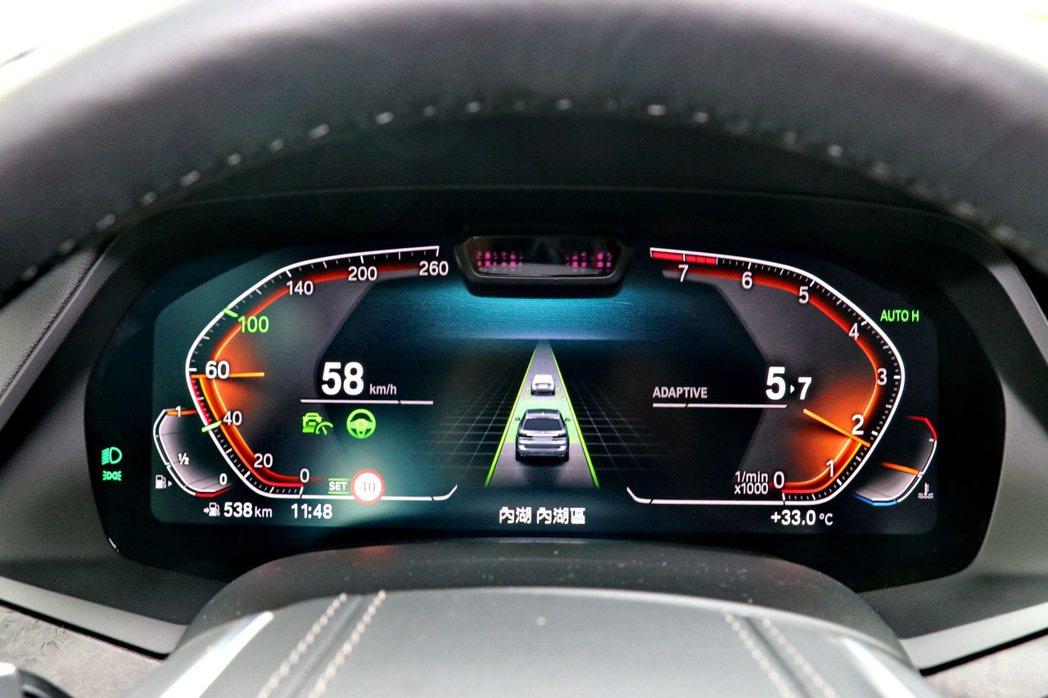 主動車距定速控制系統及主動車道維持輔助提供LEVEL 2的半自動駕駛。 記者陳威...