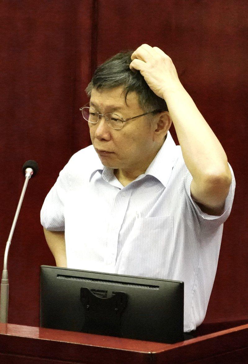 台北市長柯文哲2022年將屆滿卸任,台北市被視為熱門選區。圖/聯合報資料照片