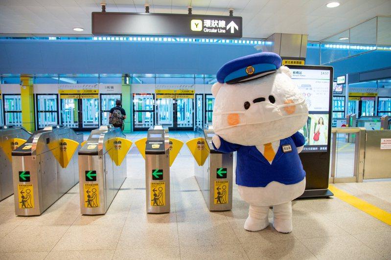捷運環狀線舉辦「熊站長Fun暑假」系列活動,邀請民眾多搭乘大眾運輸。圖/新北市捷運局提供