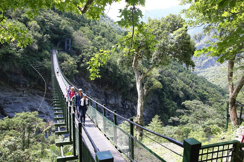 「山風一號橋」全長約120公尺。記者陳睿中/攝影