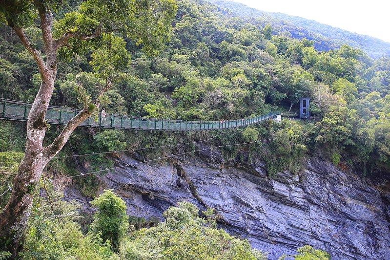 距離地面約有30層樓高的「山風一號橋」。記者陳睿中/攝影