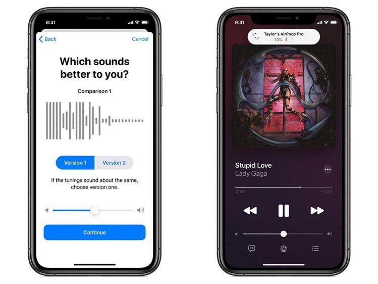 更新後也針對AirPods推出更多音效模式設定,以及在iPhone上更簡單明瞭的...