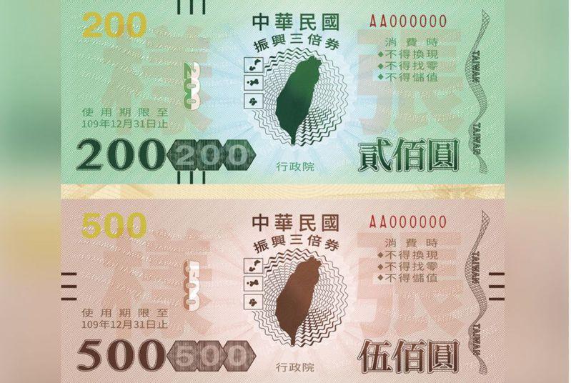 行政院推出的振興三倍券即將在七月十五日上路,其中實體券可到郵局購買。圖/行政院提供