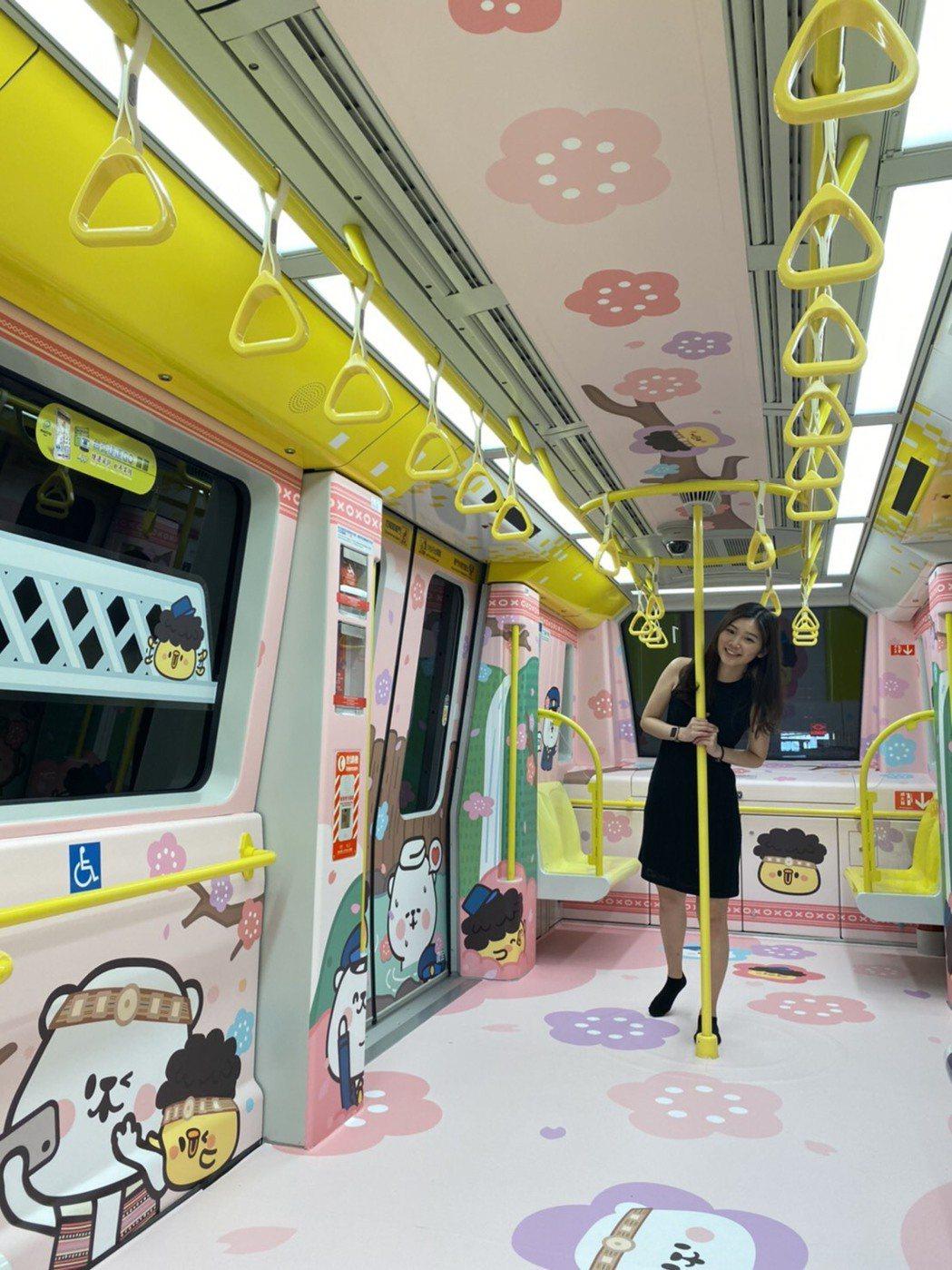 環狀線熊幸福彩繪列車。 毛毛蟲文創/提供