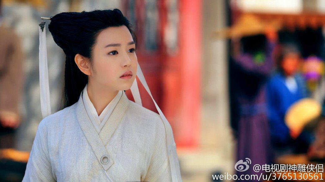 陳妍希演出小龍女一角。 圖/擷自微博
