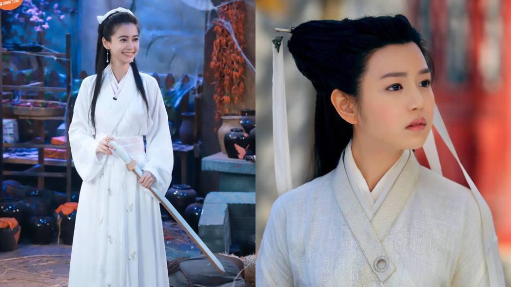 Angelababy與陳妍希小龍扮相。 圖/擷自微博