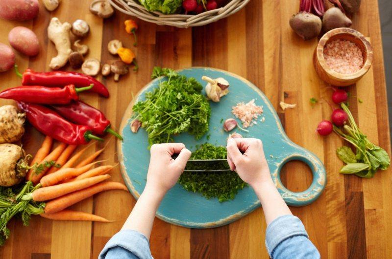 蔬菜、辛香料類妥善分配。 圖/幸福文化提供