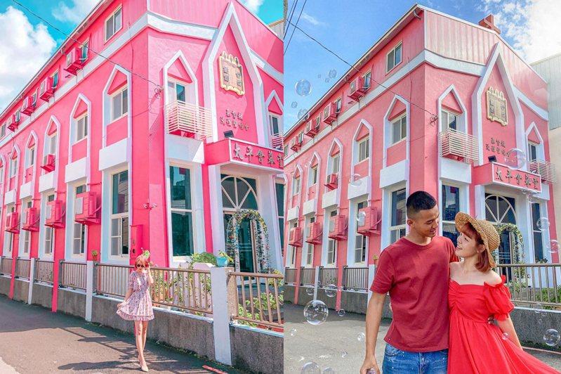 2020台中新景點加一,浪漫的粉色教堂免飛越南,在本地市區就有。圖/IG@littlestar0202授權、IG@princessni0107授權