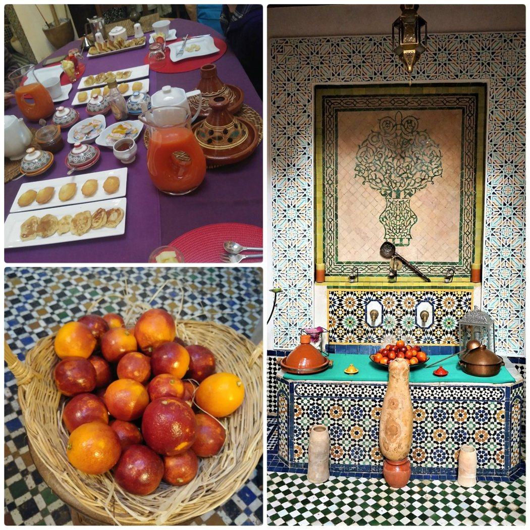 非常喜歡老闆娘準備的血橙 (Blood Orange) 果汁,這是摩洛哥品種的血橙,稱為 Moro。果肉顏色鮮豔像紅寶石般的色彩,甜味中帶有䨱盆莓 (Raspberry) 的風味,非常特殊的水果。