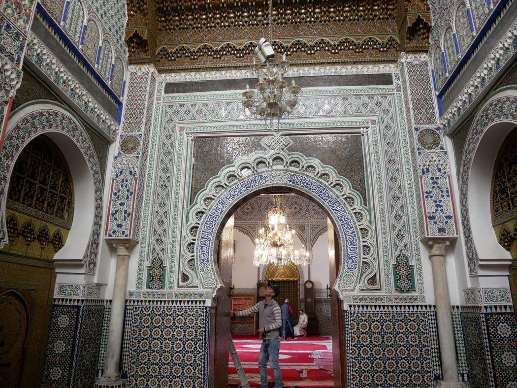 穆萊·伊德里斯二世陵寢,陵寢重新被發現後就不斷的整修,直到1824年才正式完工。