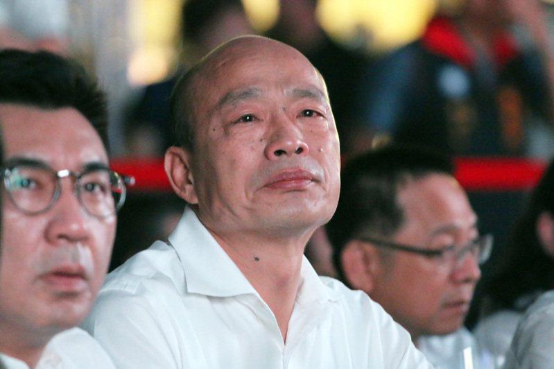 高雄市前市長韓國瑜(中)。本報資料照片