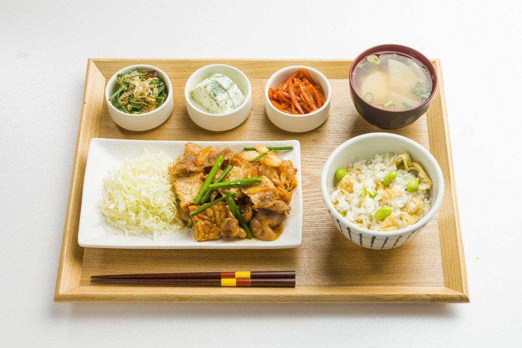 6月30日Rice Cafe杓文字凡點泡菜豬肉定食送麻婆丼一份。圖/京站提供
