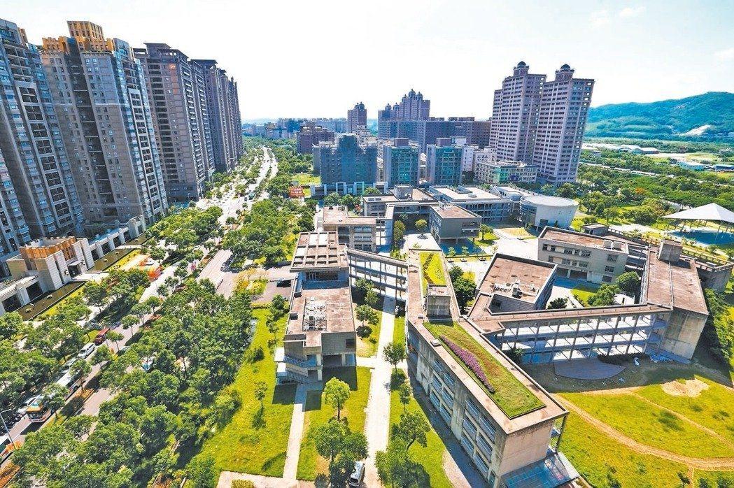北大特區多為社區大樓,綠地寬廣。圖/聯合報系資料照片
