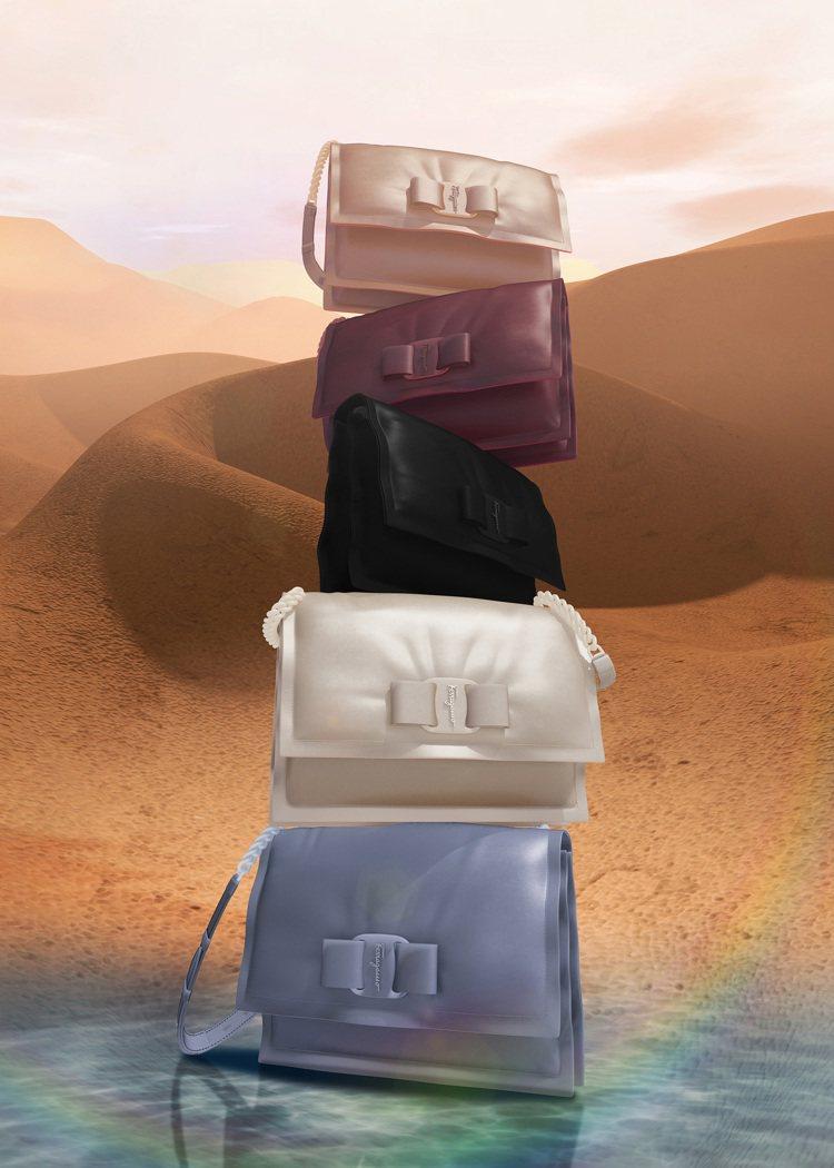 Viva系列包款用略微填充的柔軟小牛皮製成。圖/Salvatore Ferrag...