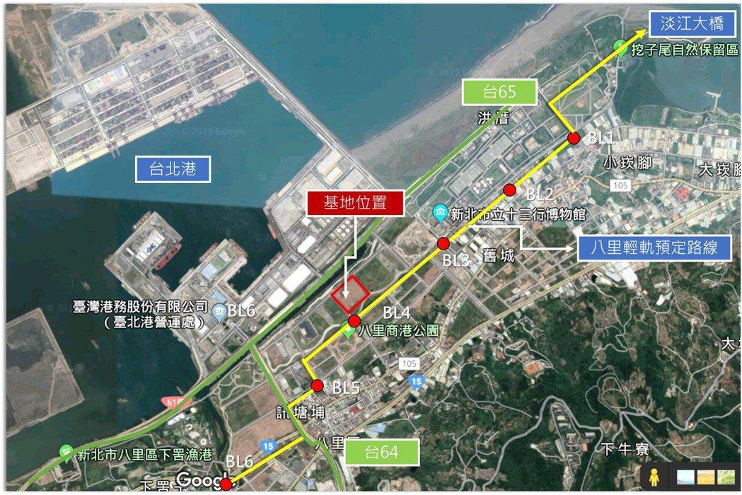 八里台北港特定區第二種產業專用區基地位置。圖/新北市經發局提供