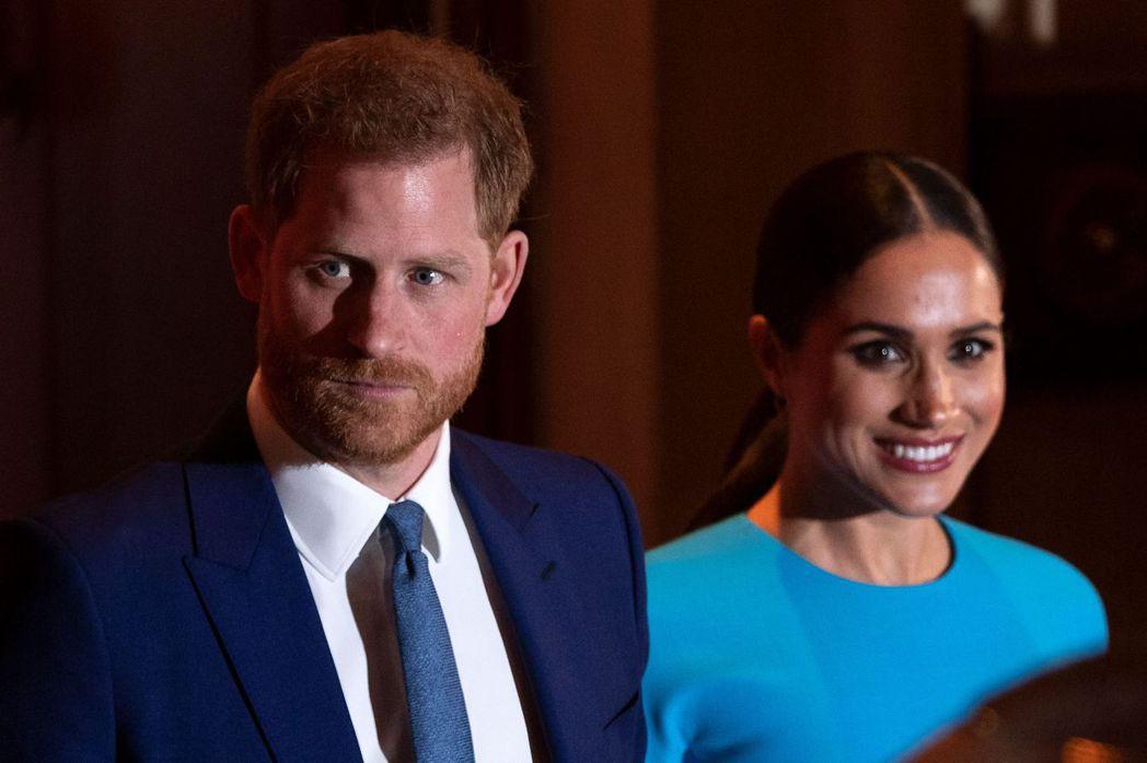 英國哈利王子和夫人梅根。(法新社)