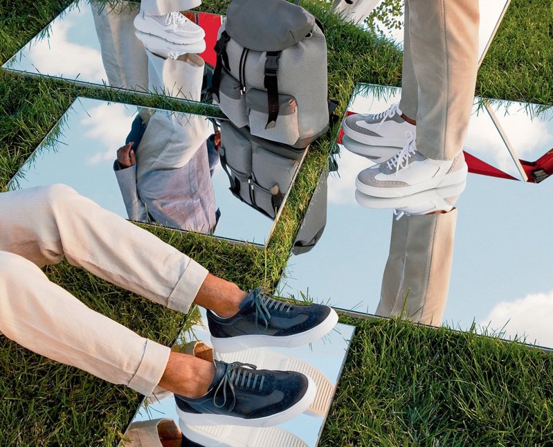 輕便的a.testoni運動鞋,以皮革展現Smart Casual的商務休閒風格。圖/a.testoni提供。