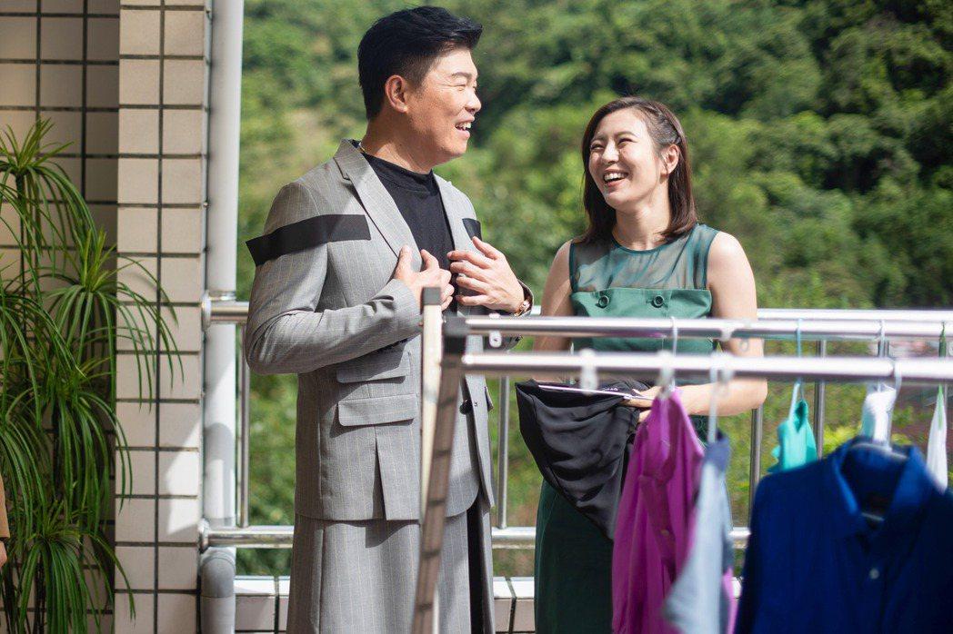 曾國城(左)在「我的婆婆怎麼那麼可愛」中一舉揭發劉品言關婆婆惡行,讓她超難堪。圖