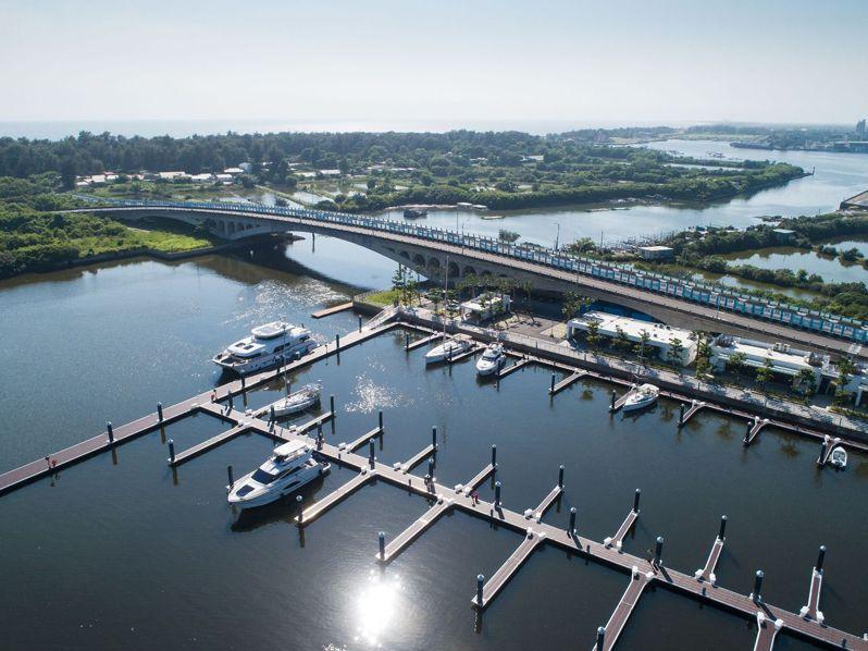 亞果遊艇集團開發全國最大的安平港遊艇碼頭案。照片/亞果遊艇集團提供