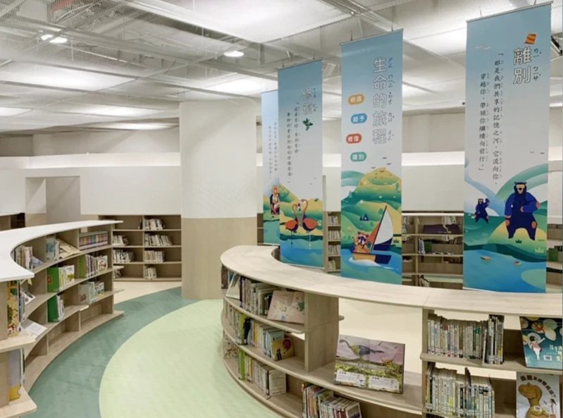 新竹市圖書館動物園分館,設計理念從兒童角度出發,館藏書籍以動植物類及親子類為主。圖/新竹市政府提供