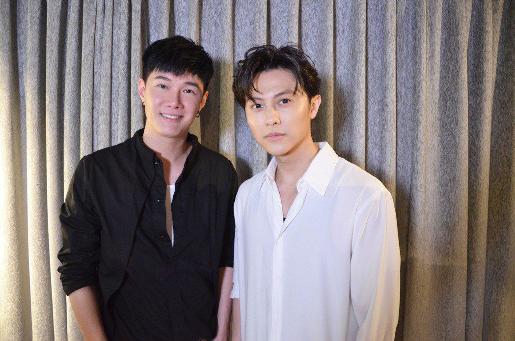 張與辰(左)和王子邱勝翊(右)一起合作翻唱韓劇OST歌曲。圖/種子音樂提供