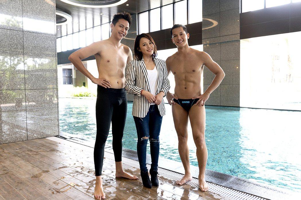 鲶魚哥(左起)、戴愛玲、梁瀚名在「女力報到最佳拍檔」中對戲。圖/TVBS提供