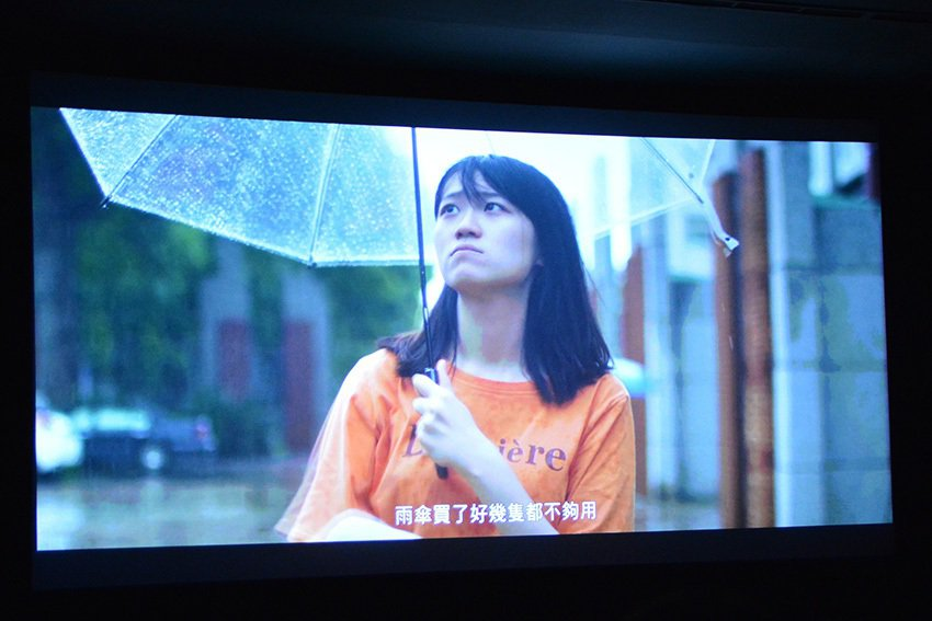 得獎學生對於作品可以在107電影院大螢幕播出都非常開心。 中央大學/提供