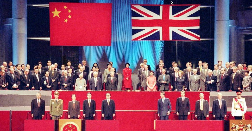 1997年7月1日,香港主權正式移交給中國,時至今日已過去23載。圖為香港主權移...
