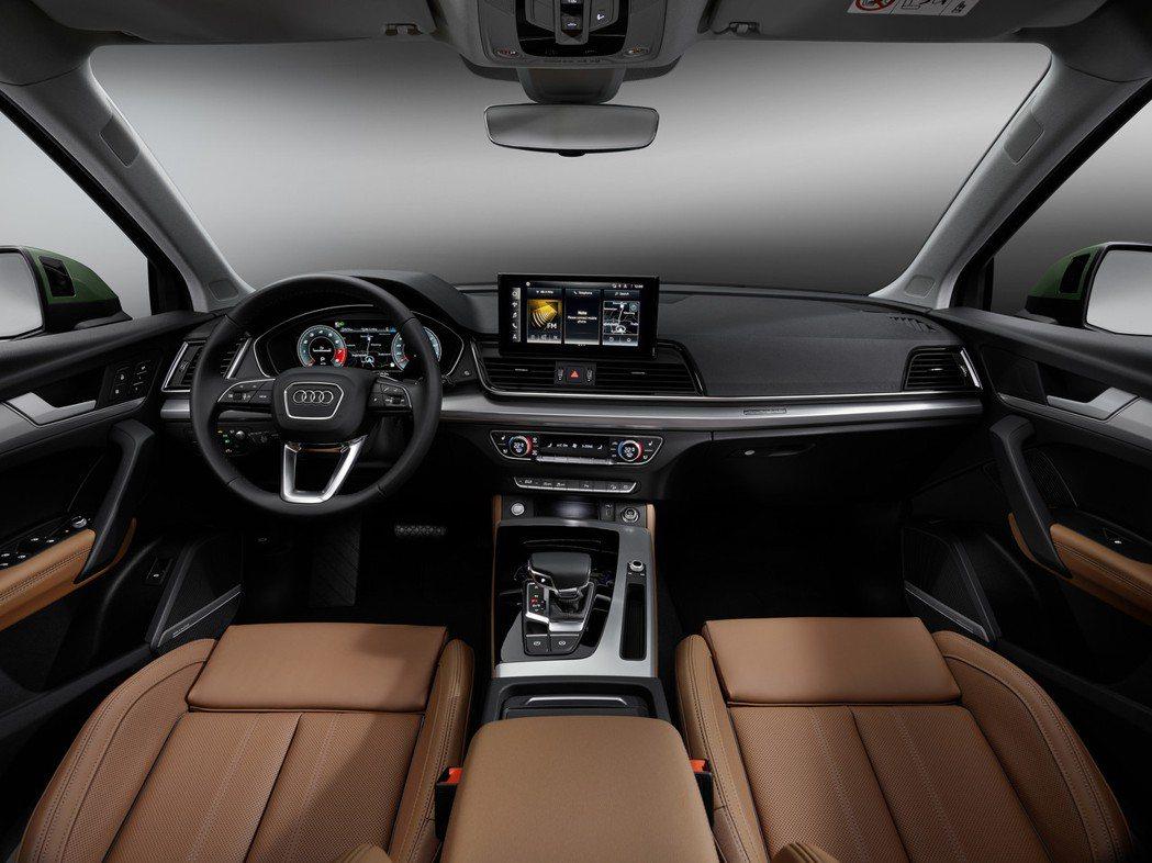 小改款Audi Q5內裝。 摘自Audi