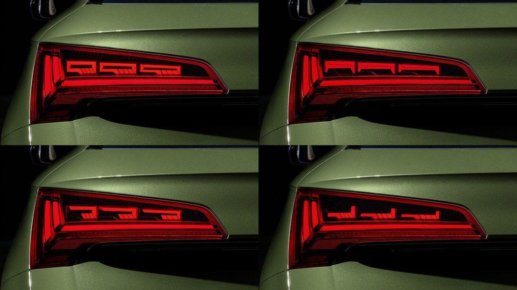 小改款Audi Q5 OLED尾燈變化。 摘自Audi