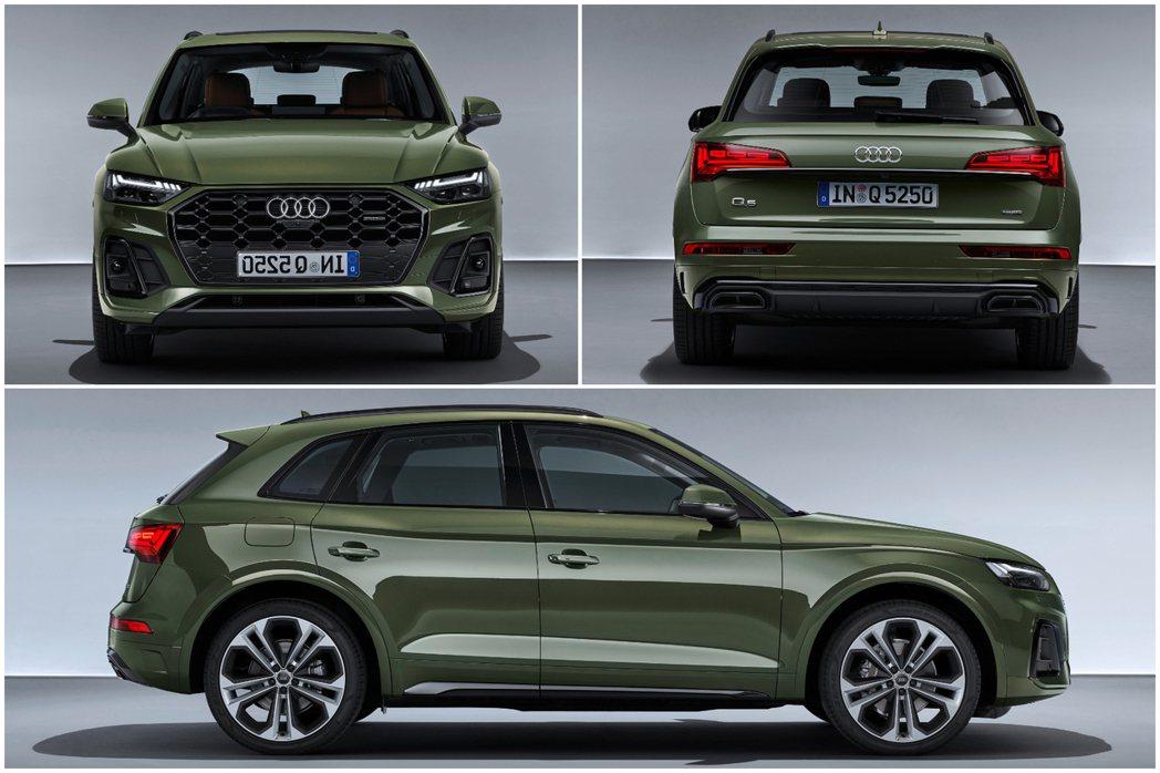 小改款Audi Q5車長增加19mm達到了4.68m。 摘自Audi