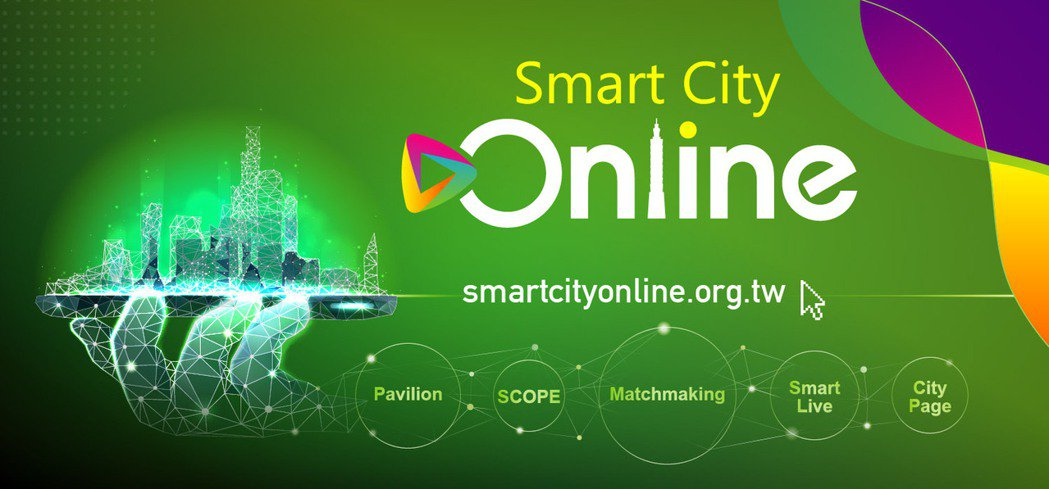 台北市電腦公會特啟動國內首次虛實整合的國際性會展活動「2020智慧城市線上展Sm...