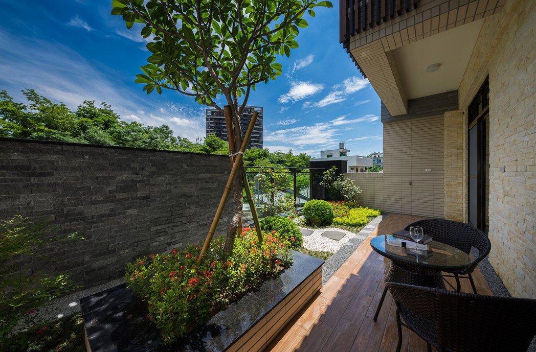 六大房六衛、和風景觀大露臺,打造大尺度寬裕生活格局。圖片提供/容誠開發企業