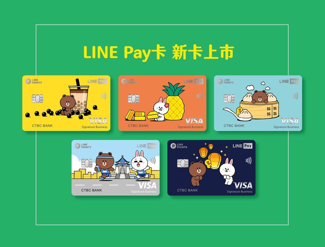 LINE Pay新卡面7月登場,主題圖案有熊大和兔兔嗑珍奶、鳳梨酥、小籠包等逗趣...