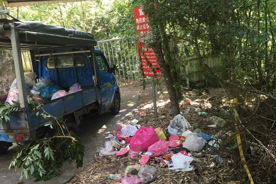 南庄苦花潭連假爆人潮 部落怒吼:美麗山谷不是垃圾場