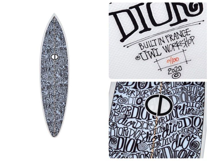 DIOR x Shawn Stussy衝浪板其中一款,全球限量編號100個,售價...
