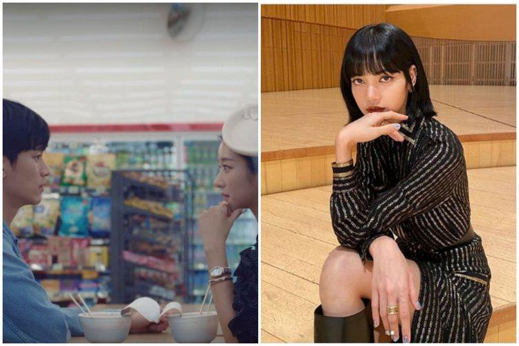 (左)女星徐睿知在最新一集「雖然是精神病但沒關係」配戴BVLGARI B.zer...