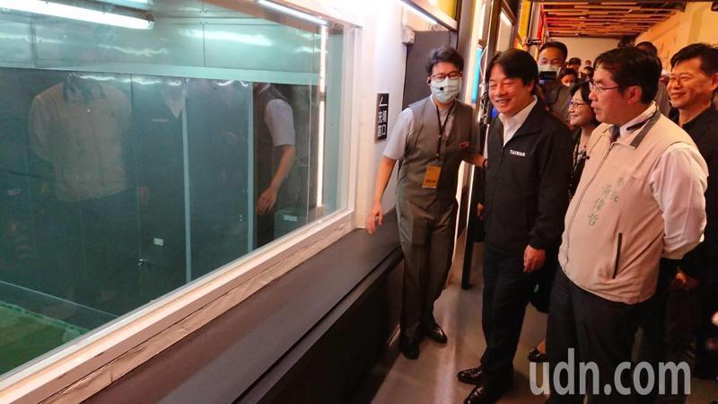 賴清德今天在台南受訪替陳菊抱不公,認為陳菊被關過黑牢,對台灣人權貢獻很大,任監察院是最適當的。記者鄭惠仁/攝影