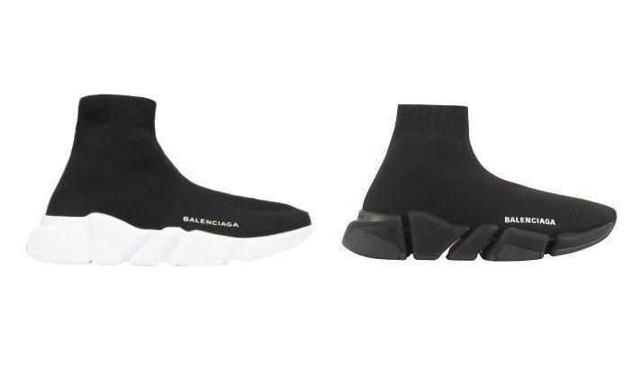 左為Speed,右為Speed 2.0鞋款。圖/BALENCIAGA提供