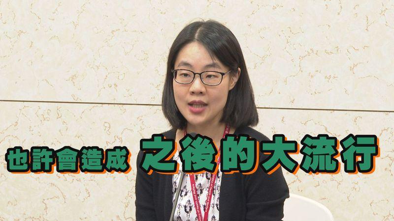 疾管署防疫醫師鄒宗珮說,中國出現一種新型豬流感,目前沒有直接豬傳人證據,不過此報告提醒,病毒株若在未來有廣泛人傳人能力,也許會造成大流行。記者徐宇威/攝影