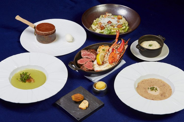 A CUT牛排館推出振興券雙人晚餐方案。圖/台北國賓提供