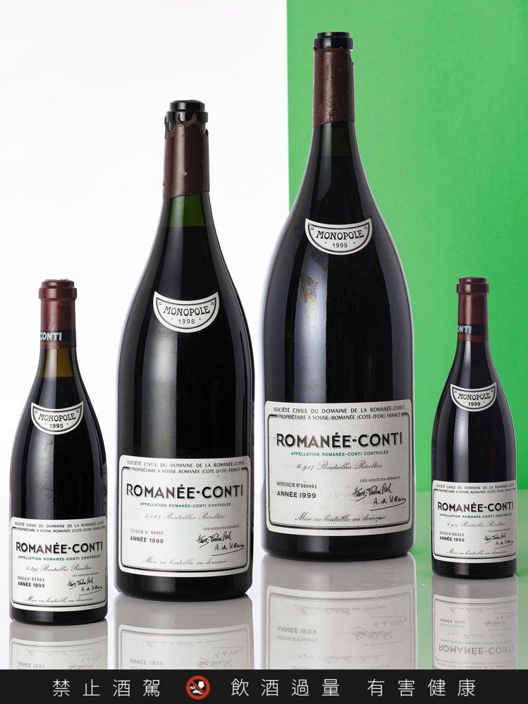 蘇富比7月5至6日「至尊珍酩薈藏」推出DRC羅曼尼康帝,1999年單瓶6公升裝,...