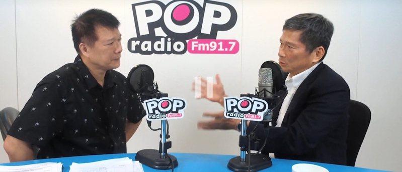 文化部長李永得今天傍晚上POP Radio聯播網「POP大國民」,接受主持人蔡詩萍專訪。圖片取自POP Radio網站