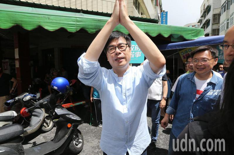 民進黨高雄市長補選參選人陳其邁今晚在臉書發文,強調如果當選高雄市長,會提供在高雄的香港朋友必要的人道協助。圖/本報資料照片