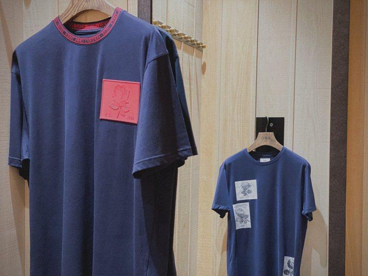 T恤拼接上了Kent & Curwen的經典玫瑰徽章,呈現非典型的「制服」聯想。...
