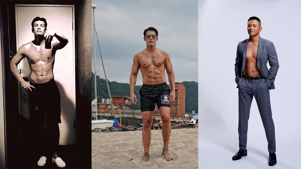八點檔男星陳志強、黃少祺、江宏恩身材都很好。圖/擷自IG、艾迪昇提供
