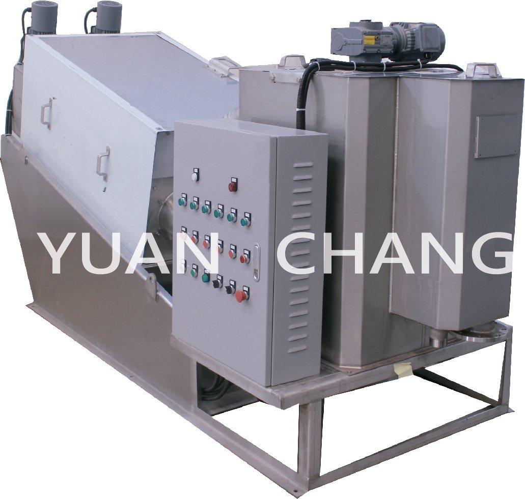 元錩工業疊螺式污泥脫水機。 元錩工業/提供